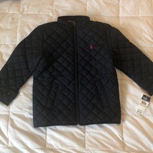 Ralph Lauren boy quilted jacket 6t dark navy
